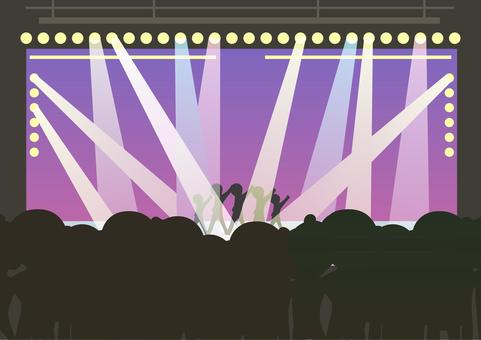 Group singer's live venue (audience)