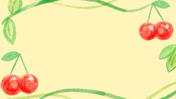 Background cherry frame