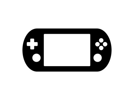 Game console black and white