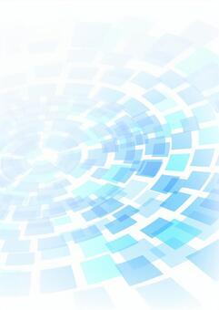 柔和的色調藍色同心圓垂直背景素材