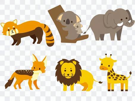 Cute animals set color