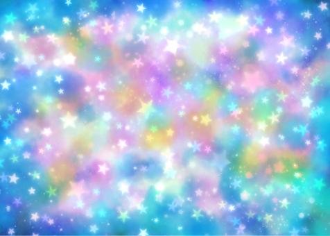 閃閃發光的宇宙天藍色