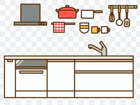 家具(系統廚房,通風扇,炊具