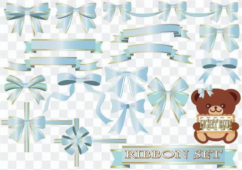 Ribbon set (light blue)