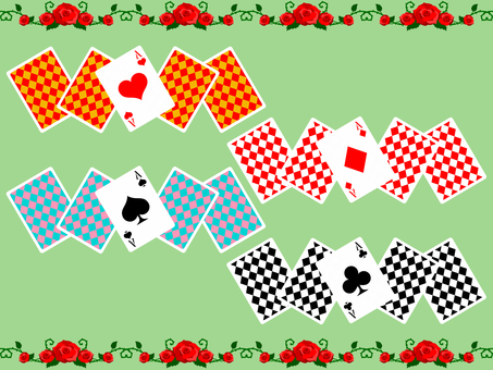 Playing cards line # 1