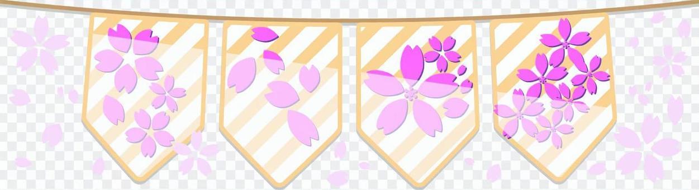 Triangular Flag Sakura 02