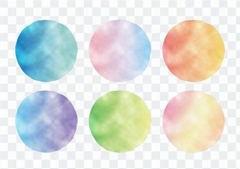 Watercolor frame (gradient)