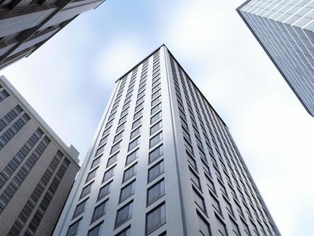 Skyscraper looking up 2