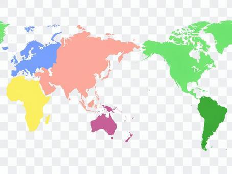 世界地圖_六大州