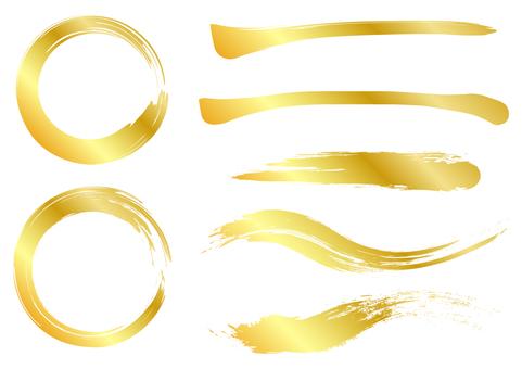 刷材質套裝金色