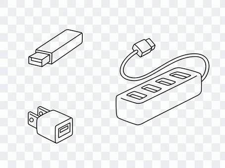 手繪線條藝術USB