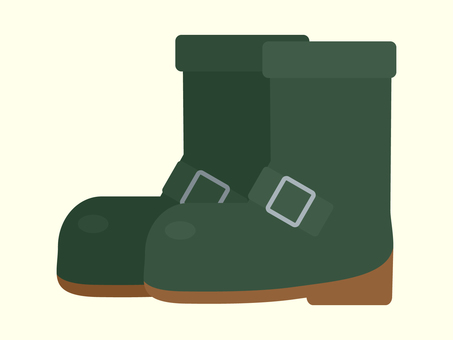 Simple and cute boots illustration