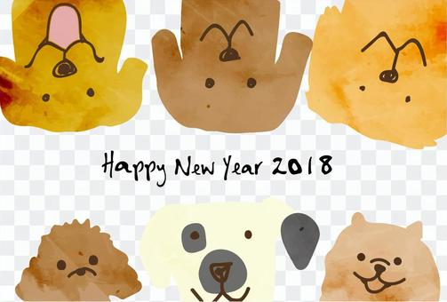 New Year's card template 2018_13