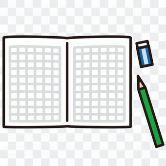 Notebook writing utensils
