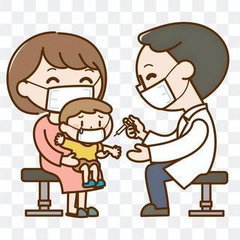 接種疫苗的兒童