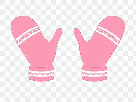 連指手套/粉紅色