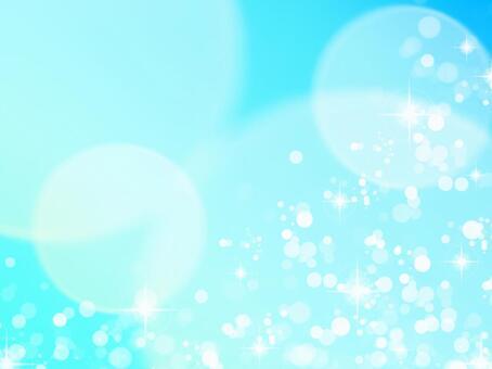 蓬鬆戒指/淡藍色1