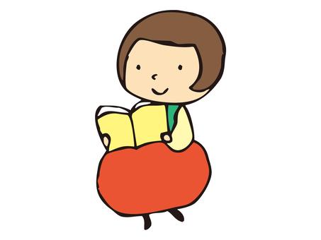 一個孩子讀一本書