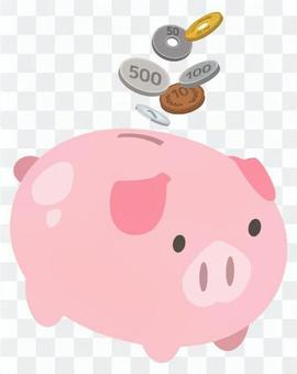 在豬的儲錢罐裡省錢