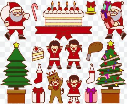 聖誕套裝和孩子們
