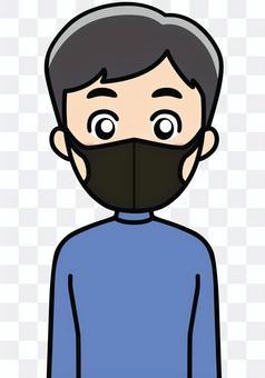ポリウレタンの黒マスク