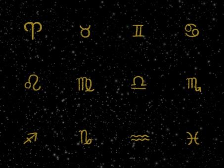 Constellation sign black background illustration