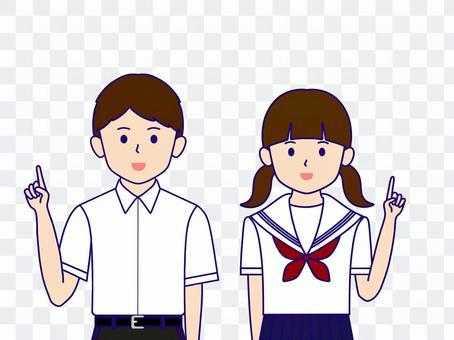 男生女生製服指向夏季短袖