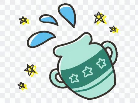 Cute Aquarius and stars