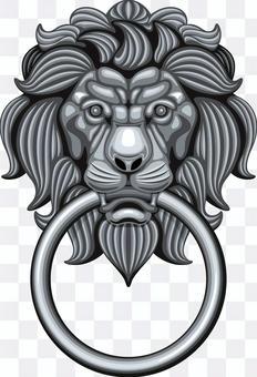 Door knocker Lion lion golden