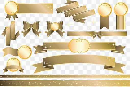 Ribbon vector _ gold