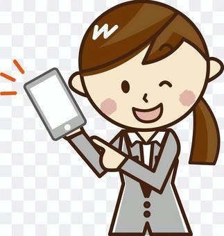 智能手機的女人_H11