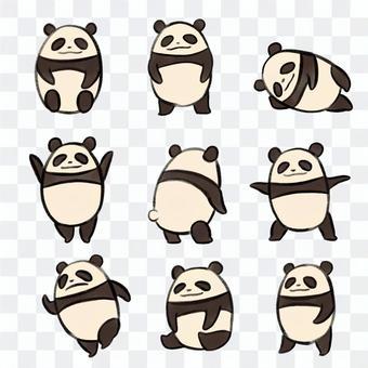 パンダの詰め合わせ