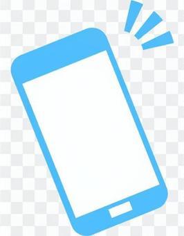 智能手機圖標(淺藍色)