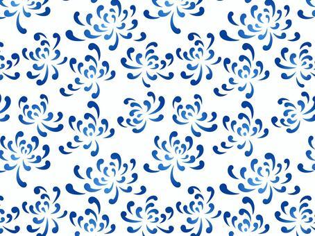 ai藍菊花圖案與色板
