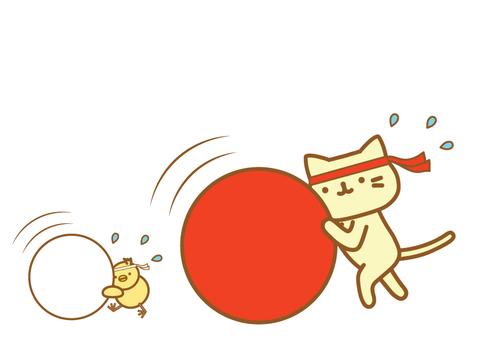 運動會大球滾貓