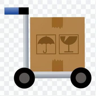 在卡車攜帶行李