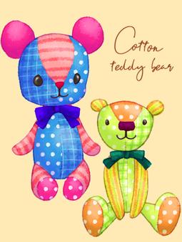 Cotton teddy bear material set
