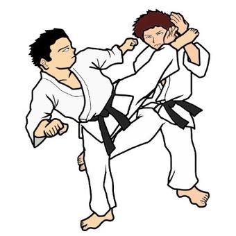 空手道(Kumite)例证