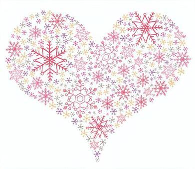 心形粉紅色由雪水晶製成