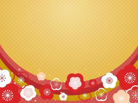 梅花装饰框架