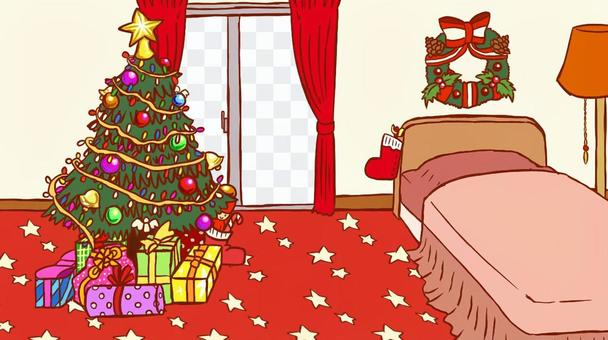 Christmas room (no lace curtain)