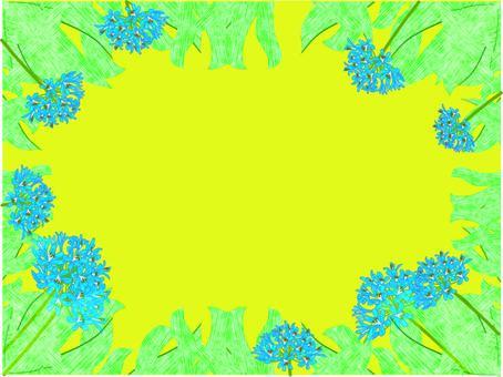 夏天到了。愛情花框架黃色