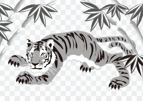 Animals _ Tiger 7 _ monochrome