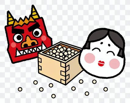 Setsubun的豆粉