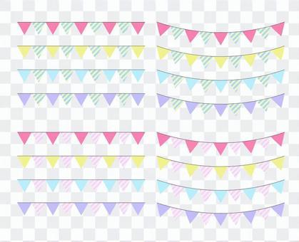 三角形的可愛的裝飾劃線