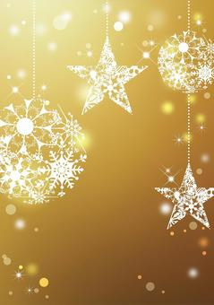 Christmas _ gold background _ vertical type