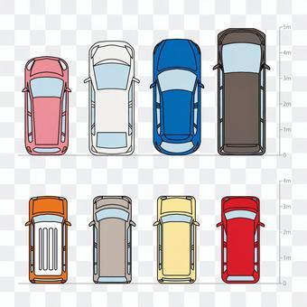 色々な車種メモリあり線画色あり