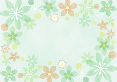 花_绿色_柔和的框架