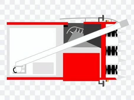 從上面的聯合收割機