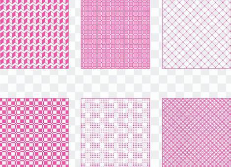 粉色簡單圖案3(透明背景)